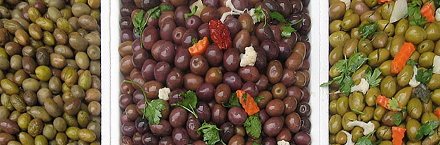 on-Sicily - several types of olives in Sicily