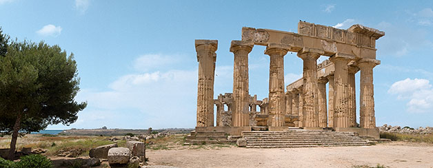 on-Sicily - a temple at selinunte, Sicily